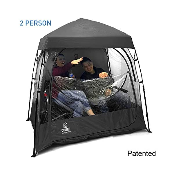 EasyGoProducts CoverU Sports Shelter -Weather Tent Pod – Patented (2 People-Black)