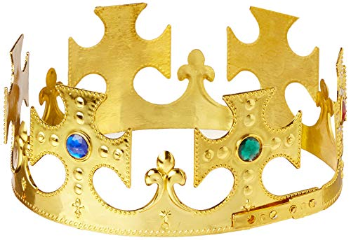 (Plastic Jeweled King's Crown (gold) Party Accessory  (1 count) (1/Pkg))