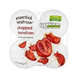 Chopped Italian Tomatoes in Juice essential Waitrose 4 x 400g - Pack of 6