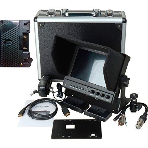 Delvcam 7 Inch Camera-Top Monitor w/ Video Waveform and Anton Bauer Battery Plat (DELV-WFORM-7-AB) by Delvcam