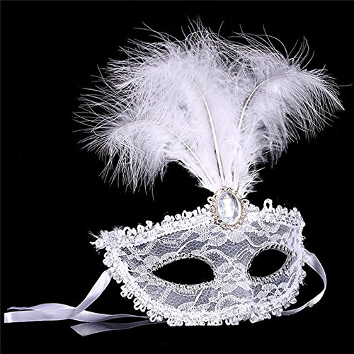 Zytree(TM) New Party Masks Masquerade Masks Halloween Christmas Feather Mask Fashion Women Sexy Half Face Masked -