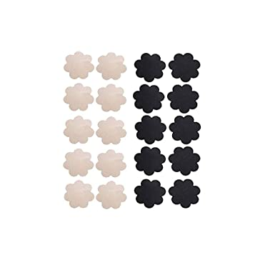 9b0b7c8c576b9 WODISON Pasties Womens Nipple Covers Adhesive Breast Petals Disposable  Stain Multi Design (10 Pairs)  Amazon.co.uk  Clothing