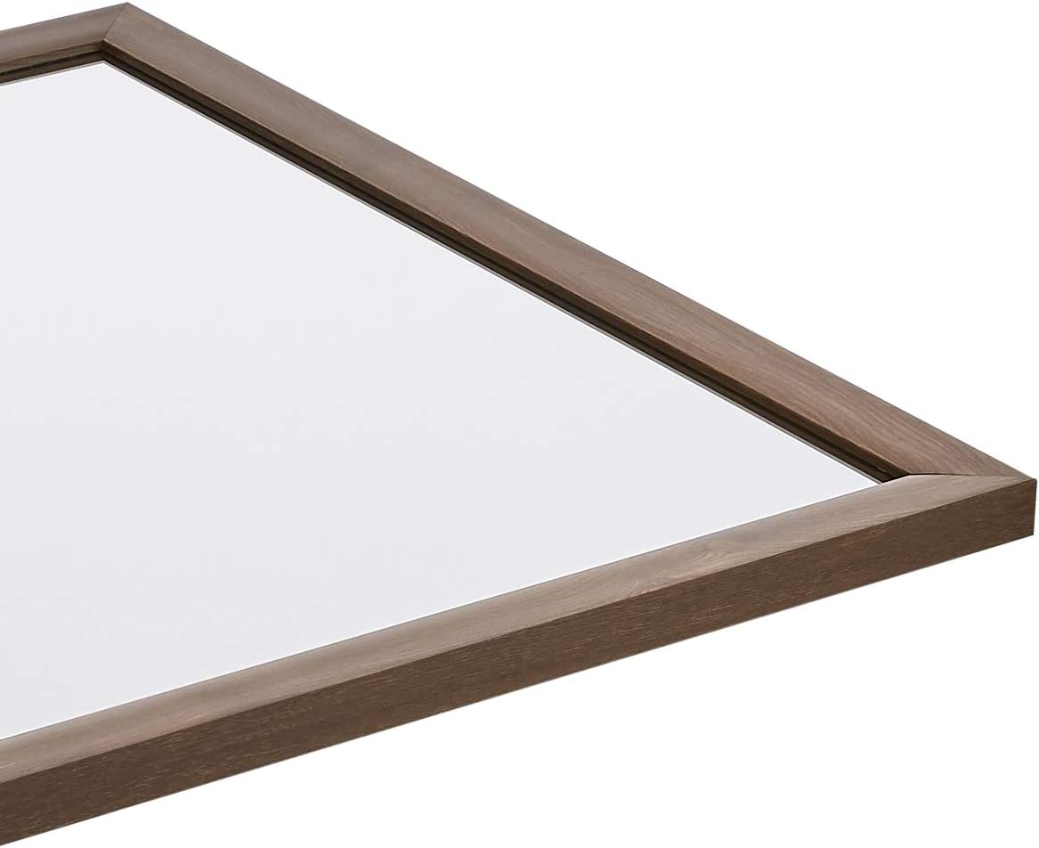 50,8 x 71,1 cm Basics Miroir mural rectangulaire Encadrement classique Blanc