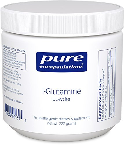 Pure Encapsulations l Glutamine Powder Hypoallergenic Supplement Supports Muscle Mass and Gastrointestinal Tract* 227 Grams