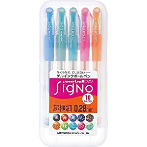 Uni-ball Signo UM-151 Gel Ink Pen - 0.28 mm - 10 Color Set (japan import)