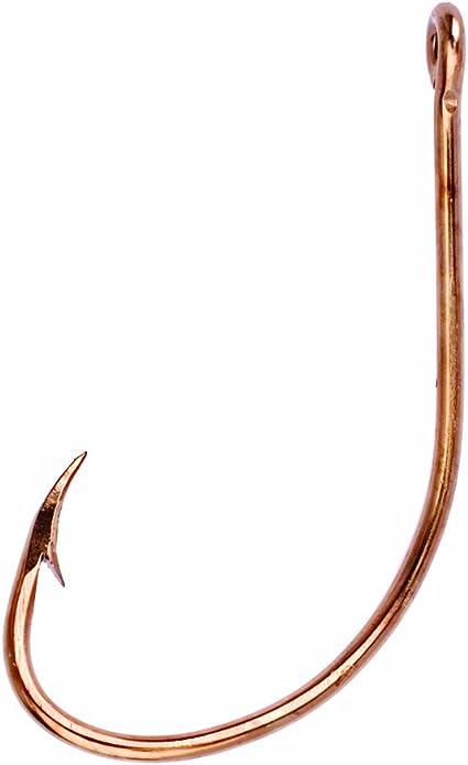 Eagle Claw Classic Bronze plain shank hooks Size-4 Hook 5 Packages 10 =50 hooks