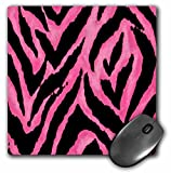 Lee Hiller Designs RAB Rockabilly - Pink and Black Zebra Print - MousePad (mp_19696_1)