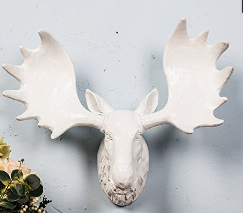 YL Crafts - Fake Moose Head Wall Mount Resin Animal Wall Scu