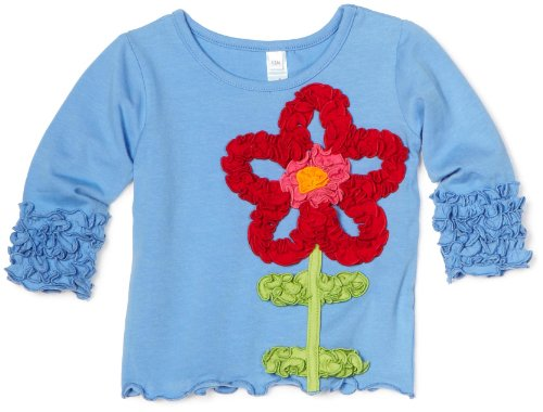 Love U Lots Baby Girls' Poppy Flower Ruffle Tee