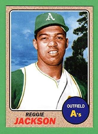 Reggie Jackson 1968 Topps Style Rookie Baseball Card What
