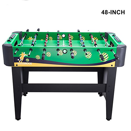 Pinty Foosball Table 48''/50''/55''/72''/84'' Competition Sized Soccer Game Table/Hockey Table for Family Use Game Room (48