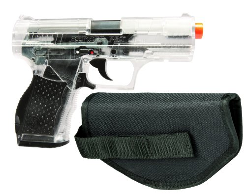 Crosman Stinger P9T Clear and Black AirSoft Pistol with Holster (Clear Airsoft Bb Gun)