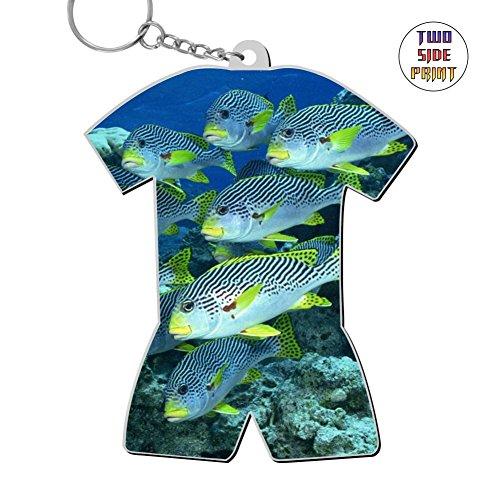 Gif Fish - Funny Keychain Animal Fish Keyring World Cup Polo Shirt Logo Key Ring Key Fob Alloy Nice Gift