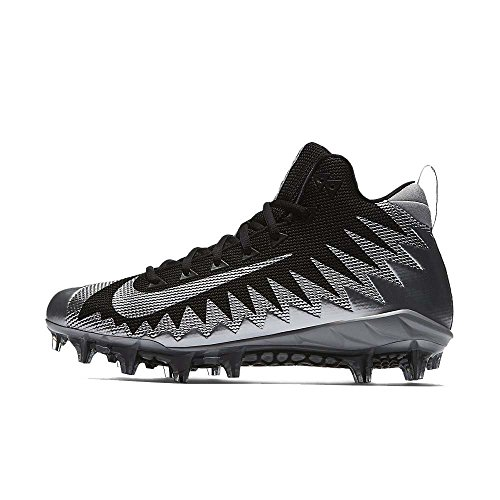 Menace Football Alpha Black pour NIKE Mid Pro Homme Silver Metallic Taquet nCtYwEwqc