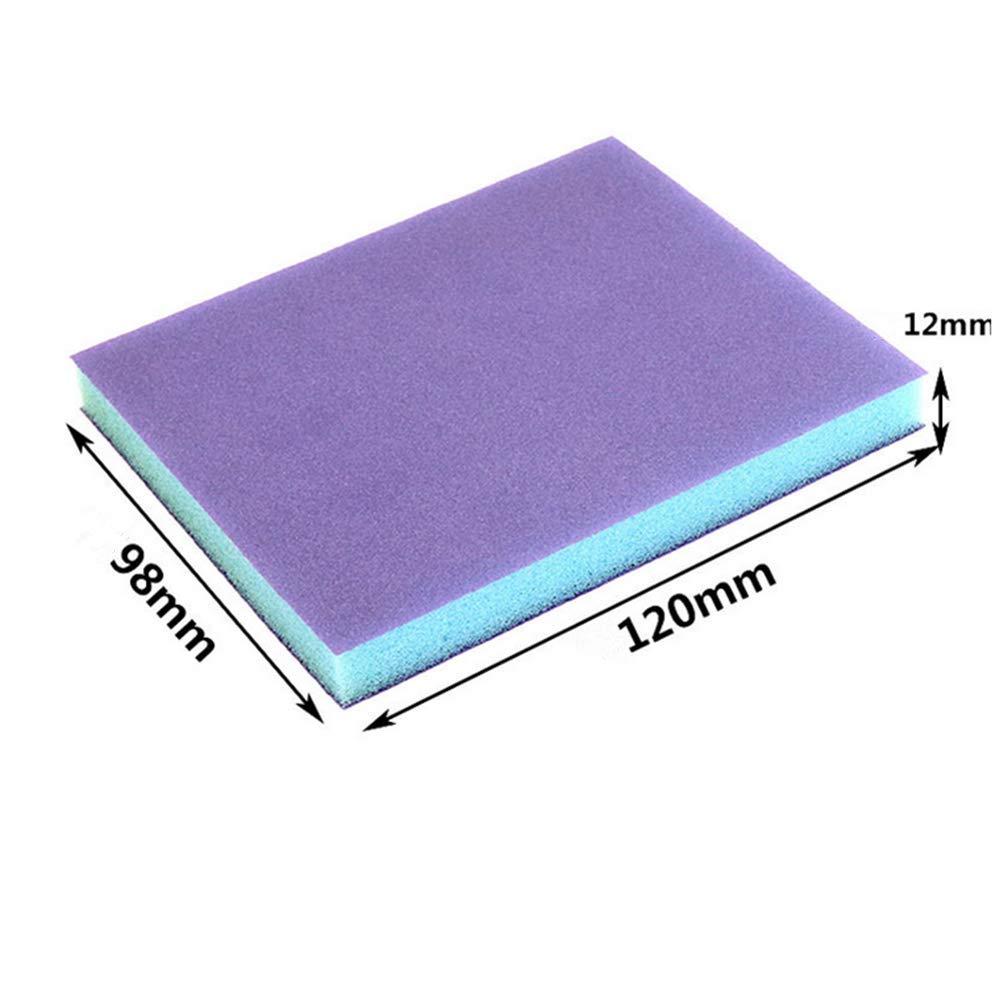 12 Pcs 320 Blue Sanding Sponge Grit Sanding Blocks, Washable and Reusable Sand Sponge Kit by Smart Export LLC