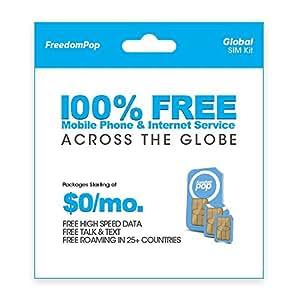 FreedomPop Global Talk, Text, & Data w/ 3-in-1 SIM Kit