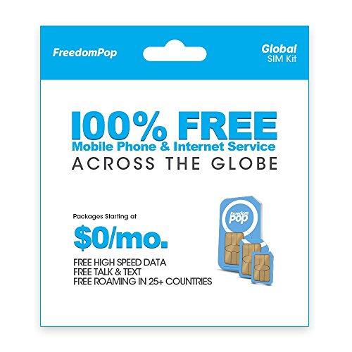 (FreedomPop Global Talk, Text, & Data w/ 3-in-1 SIM Kit)