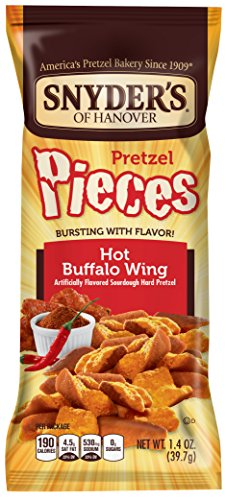 Snyder's of Hanover Flavored Pretzel Pieces, Hot Buffalo Wing, 28 Count