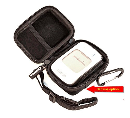 "DSAll Hard Case Travel bag for Portable bp monitor Omron BP652N 7 Series Wrist Blood Pressure Monitor-belt hanging(for Medical Pros+Mesh pocket+Adjustable handle+2 side Zipper+Carabiner""TRAVEL N STYLE"