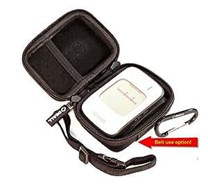 "DSAll Hard Case Travel bag for Portable bp monitor Omron BP652N 7 Series Wrist Blood Pressure Monitor-belt hanging(for Medical Pros+Mesh pocket+Adjustable handle+2 side Zipper+Carabiner""TRAVEL N STYLE"