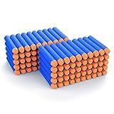 100 nerf gun bullets - AMOSTING Refill Darts 100PCS Bullet for Nerf N-Strike Elite Zombie Strike Rebelle - Blue