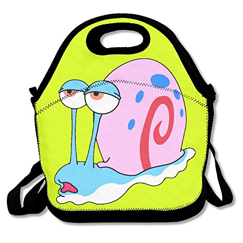 Oery Tired Snail Bento Lunch Bag Portable Cooler Tote