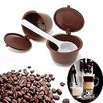 KING-DO-strati-2-in-1-riutilizzabili-filtri-per-cialde-da-caff-espresso-con-cucchiaini-per-Dolce-Gusto-Reusable-Coffee-Capsule-tazza-54-mm-x-35-mm