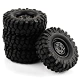 SkyQ RC 108mm Tires Tyre and Aluminum Wheels for 1/10 Scale HPI Redcat Climbing Car Black 4pcs