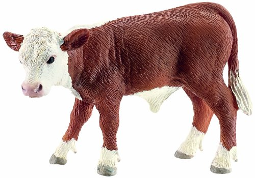 (Schleich Hereford Calf Toy Figure)