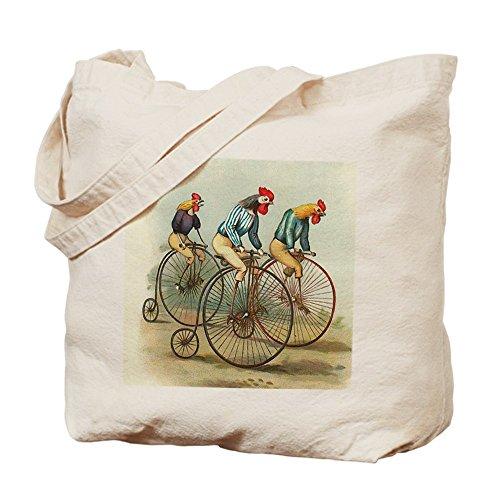 CafePress–Vittoriano Pollo Bicicletta–Borsa di tela naturale, panno borsa per la spesa