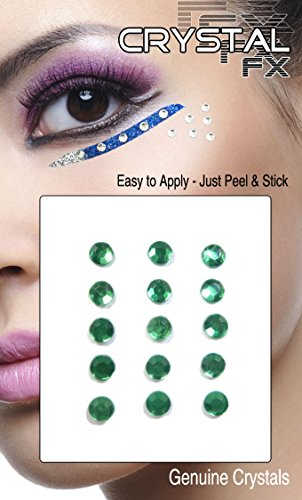Grl Cosmetics Crystal Body Jewels, 15pc (Green)