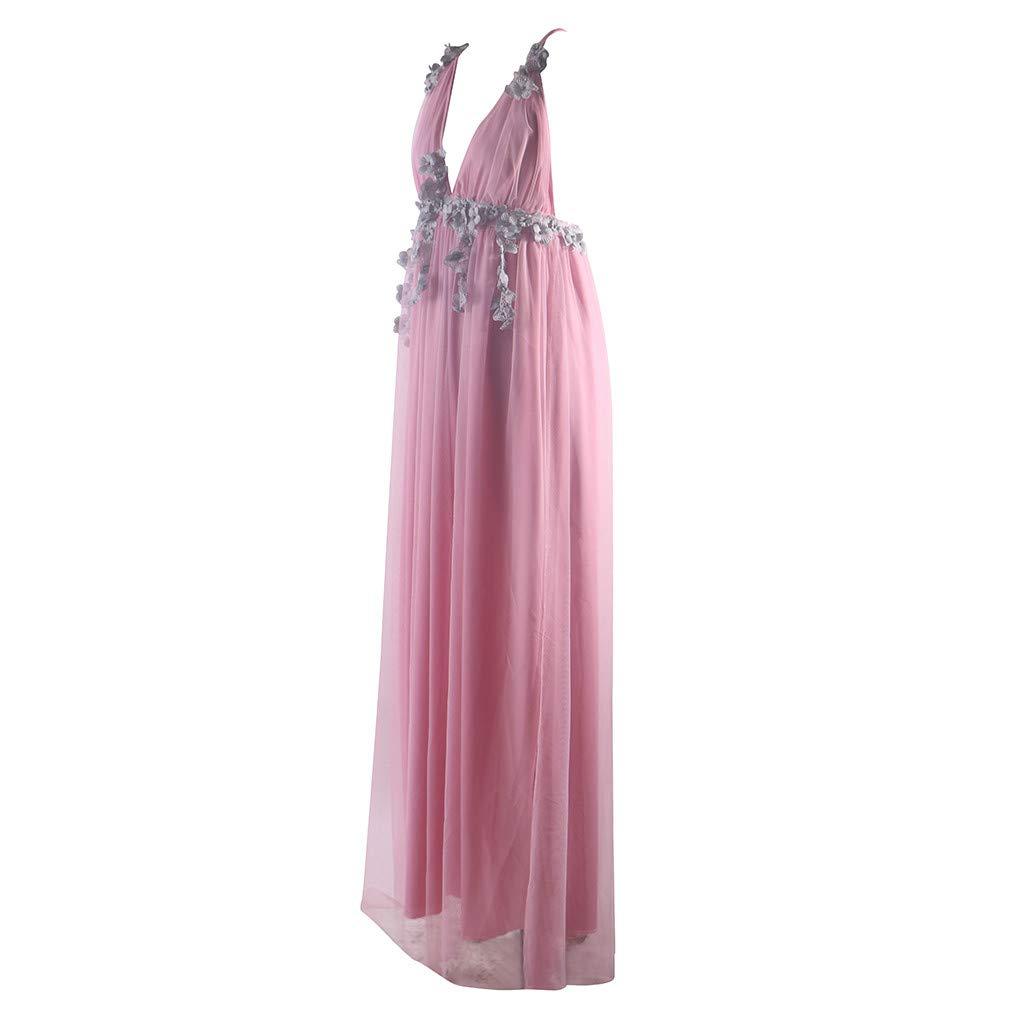 Amazon.com: GLVSZ Vestido de boda de cuello bajo en V ...