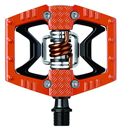 (CRANKBROTHERs Crank Brothers Double Shot Pedals, Orange/Black/Orange Spring)