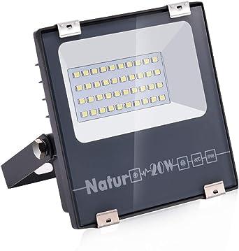 20W LED Foco Exterior de alto brillo,2000LM Impermeable IP66 ...