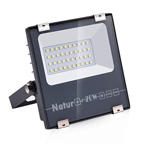 20W LED Foco Exterior de alto brillo,2000LM Impermeable IP66 ...
