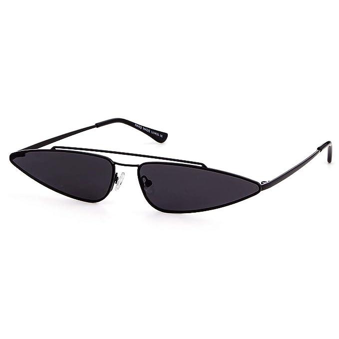 Amazon.com: QIFANDI Gafas de sol vintage de ojo de gato ...