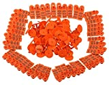 Pack of 100 Mutton, Sheep, Pig, Hogs, Goat, Llam Ear Tag As Identifying Mechanism