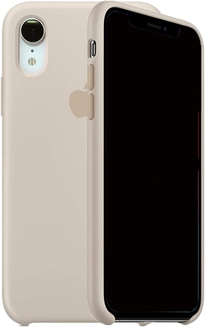 ForH&U Silicone Case Compatible for iPhone XR, Liquid Silicone Non-Slip Case Compatible with iPhone XR-6.1 inch (Stone)