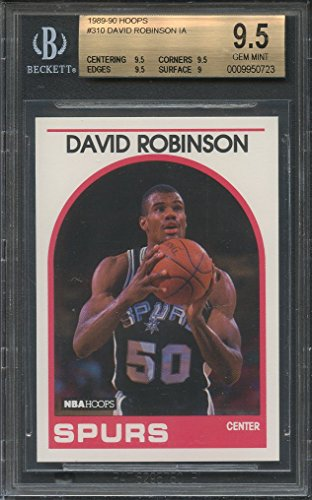 1989-90 hoops #310 DAVID ROBINSON IA spurs rookie card BGS 9.5 (9.5 9 9.5 9.5) Graded Card -