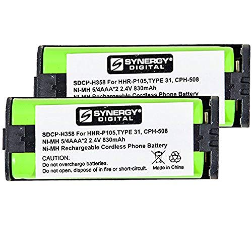 T Cordless Phone Battery Combo-Pack includes: 2 x SDCP-H358 Batteries ()