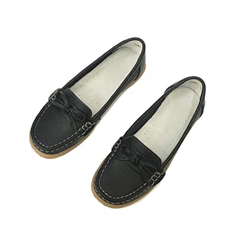 be3ab9aea2355 Amazon.com: August Jim Womens Flats Shoes,Round Toe Classics Women's ...