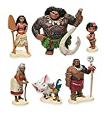 Moana Maui Hei Hei Playset 6 Figure Cake Topper Toy Doll Set Birthday Party Baby Shower