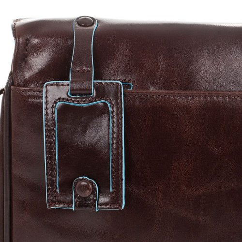 PIQUADRO BLUE SQUARE Cartella Messegner Piccola Porta iPad in Vera Pelle Mogano CA1403B2/MO