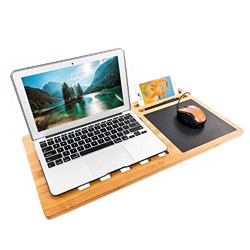 3f72238b1196 Bonnlo Bamboo Eco Premium Bamboo Lap Desk Board Multi Tasking Laptop ...