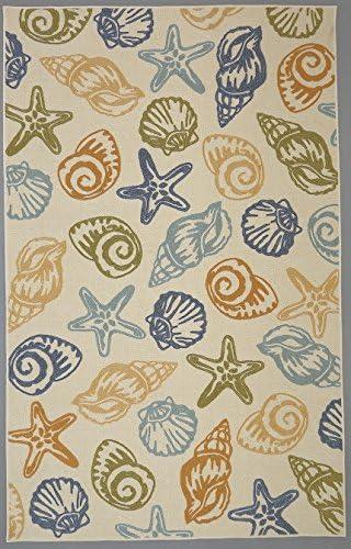 Mohawk Home Woodbridge Seashells Coastal Printed Area Rug, 7 6×10 , Multicolor