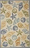 Mohawk Home Woodbridge Seashells Coastal Printed Area Rug, 7'6×10′, Multicolor For Sale