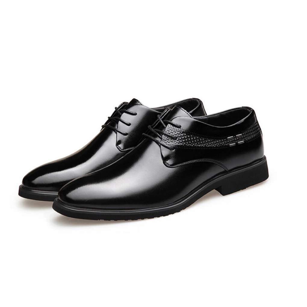 FuweiEncore Herrenschuhe Leder Frühjahr Herbst Komfort Classic   Fashion Business Schuhe Schwarz Braun   Party & Abend Formale Schuhe (Farbe   Schwarz, Größe   41) (Farbe   Schwarz, Größe   43)
