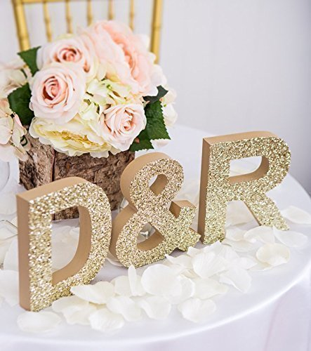 Amazon wedding letters for table decor wooden freestanding wedding letters for table decor wooden freestanding initial signs personalized initial set 2 letters and junglespirit Choice Image
