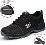 GUDUN Breathable Steel Toe Shoes for Men Steel Toe Sneakers Steel Toe Boots for Men (9-15 to delivery) (US Women 7.5 / Men 6, GD05)