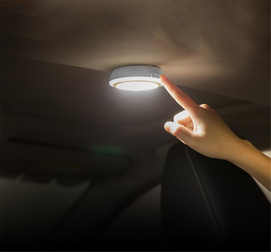 Auto SUV Taxi GUIDATO Notte Leggero Soffitto Tronco senza fili Lampada USB ricarica Automatico Induzione Per Veicolo interno Casa Armadio Display Toccare Controllo , White Light Zcar